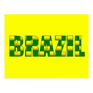Brazil Carbon logo - 2010 soccer gifts Postcard