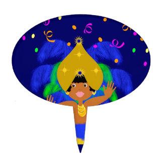 Brazil carnival cake topper