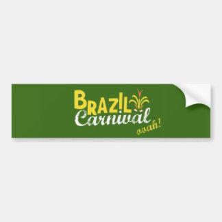 Brazil Carnival ooah! Bumper Sticker Car Bumper Sticker