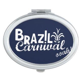 Brazil Carnival ooah! Mirror Blue Vanity Mirror
