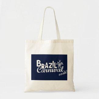 Brazil Carnival ooah! Shopping Blue Budget Tote Bag
