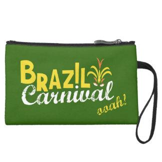 Brazil Carnival ooah! Suede Wristlet