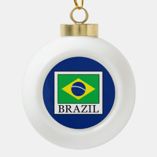 Brazil Ceramic Ball Christmas Ornament