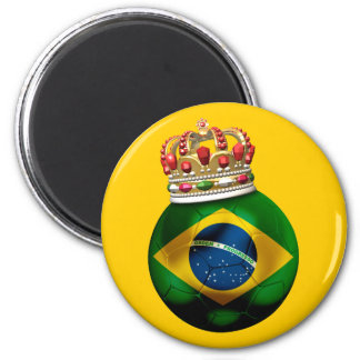 Brazil  Champion 2 Inch Round Magnet