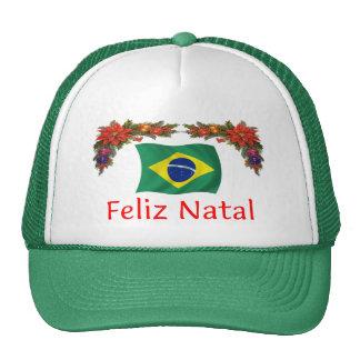 Brazil Christmas Mesh Hat
