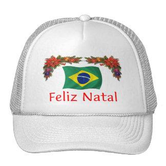 Brazil Christmas Mesh Hats