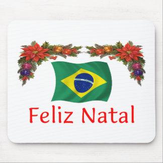 Brazil Christmas Mouse Pad