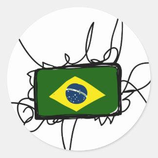 Brazil Classic Round Sticker
