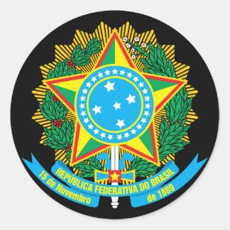 Brazil Coat Arms Sticker