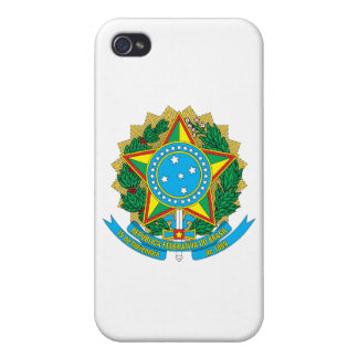 Brazil Coat of Arms Covers For iPhone 4