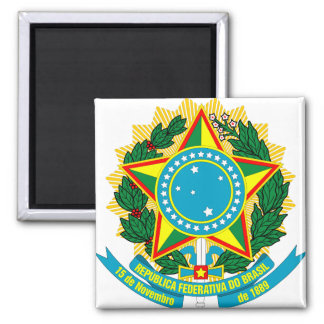 Brazil Coat of Arms detail Refrigerator Magnets