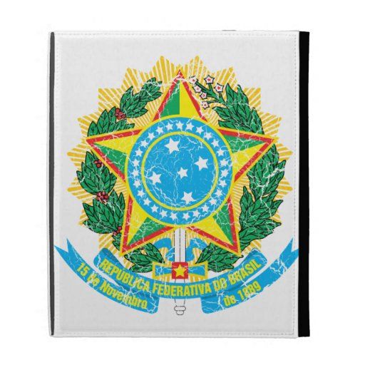 Brazil Coat Of Arms iPad Case