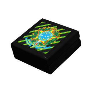 Brazil coat of arms jewelry box