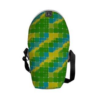Brazil color square ブラジルカラー タイル模様 messenger bag