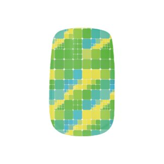 Brazil color square ブラジルカラー タイル模様 Minx® nail art