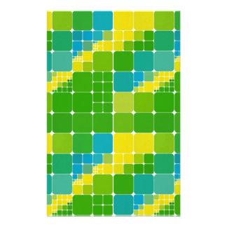Brazil color square ブラジルカラー タイル模様 stationery