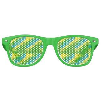 Brazil color square ブラジルカラー タイル模様 wayfarer sunglasses