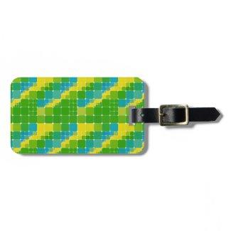 Brazil color tile pattern ブラジルカラー タイル模様 travel bag tags