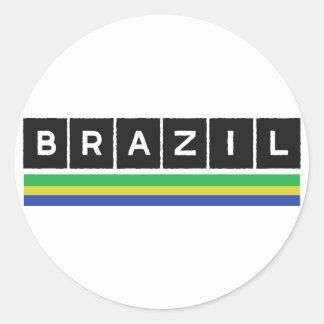Brazil Colors design! Classic Round Sticker