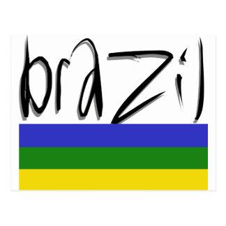 Brazil Colors! Postcard