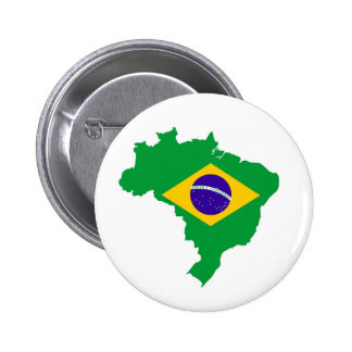 brazil country flag map shape brazilian 2 inch round button
