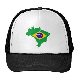 brazil country flag map shape brazilian trucker hat