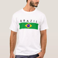 Brazil country flag nation symbol name text T-Shirt