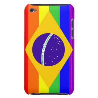 brazil country gay proud rainbow flag homosexual barely there iPod cover