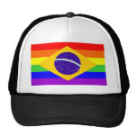 brazil country gay proud rainbow flag homosexual hats