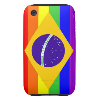 brazil country gay proud rainbow flag homosexual tough iPhone 3 cases