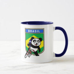 Combo Mug with Brazil Cycling Panda design