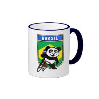 Brazil Cycling Panda Coffee Mugs