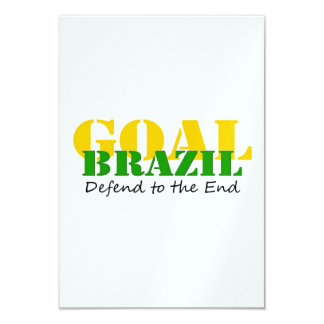 Brazil - Defend to the End 3.5x5 Paper Invitation Card