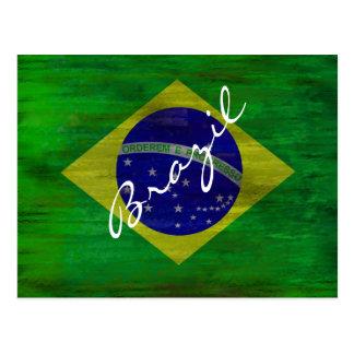 Brazil distressed Brazilian flag Postcards