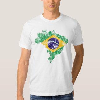Brazil Distressed Flag Shirts