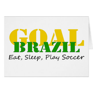 Brazil - Eat Sleep Play Soccer Card