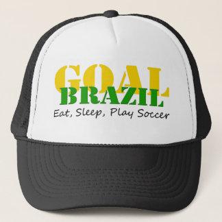 Brazil - Eat Sleep Play Soccer Trucker Hat