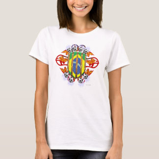 Brazil Electrified Soccer Ladies ComfortSoft Tee
