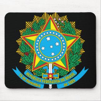brazil emblem mouse pad