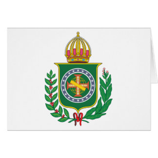 Brazil Empire Coat of Arms Greeting Card