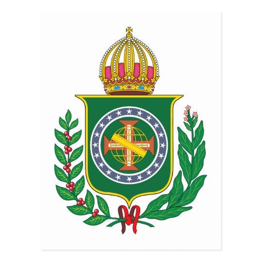 Brazil Empire Coat of Arms Postcard