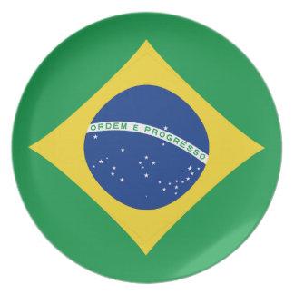 Brazil Fisheye Flag Plate