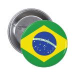 Brazil Flag 2 Inch Round Button