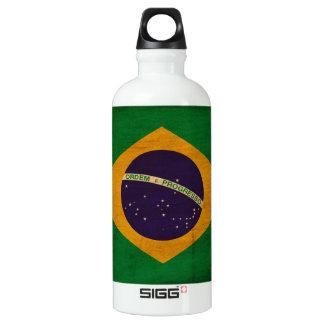 Brazil Flag Aluminum Water Bottle
