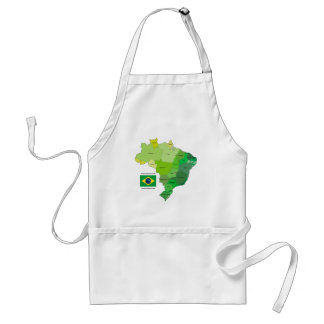 Brazil Flag and Political Map Aprons