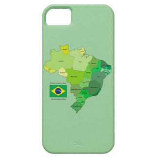 Brazil Flag and Political Map iPhone 5 Covers