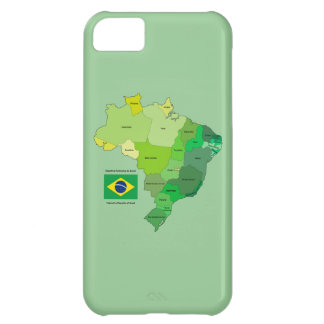 Brazil Flag and Political Map iPhone 5C Case