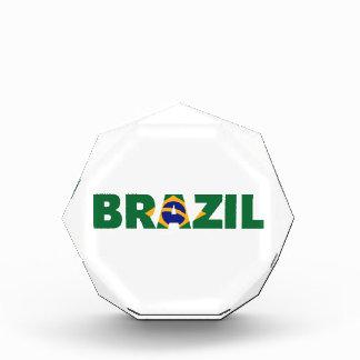 Brazil flag acrylic award