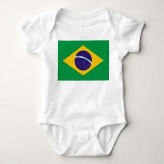 Brazil Flag Baby Bodysuit