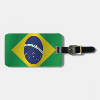 Brazil flag bag tag